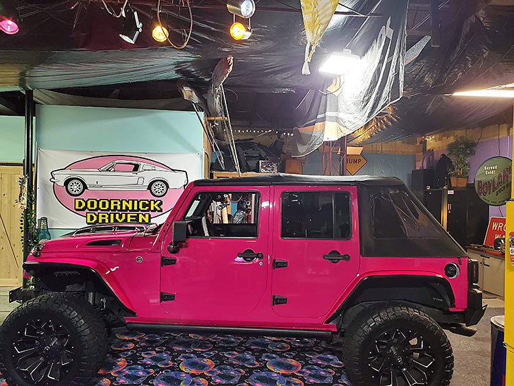 Vinyl Wrap Hot Pink Jeep in Stamford, Connecticut