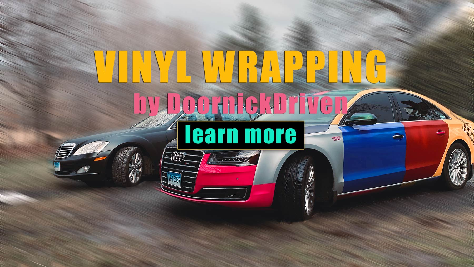 Vinyl Wrapping Cars at Doornick Driven in Stamford, CT